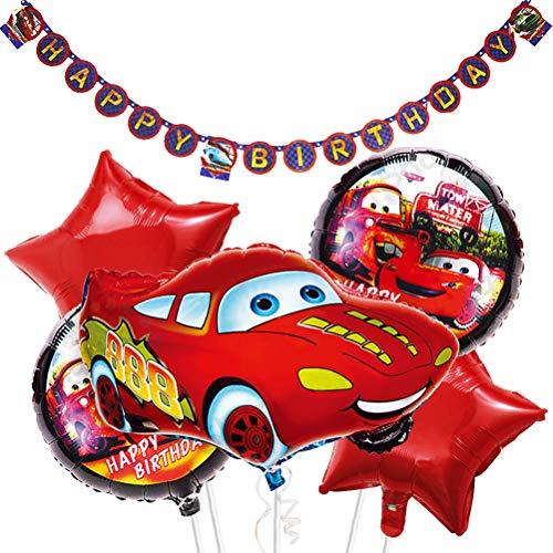 WENTS Decorazioni di Compleanno partyPalloncini Sets,Palloncini Compleanno Car Forma Palloncini di stagnola Foil Party per Bambini Ragazzo Compleanno Feste Baby Shower