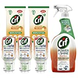Cif Power & Shine Kitchen Cleaning Bundle (Pack <span class='highlight'>of</span> 1 x 700 <span class='highlight'>ml</span> Cleaning Spray, 3 x 70 <span class='highlight'>ml</span> Eco Refills 2 x Biodegradable Wipes)