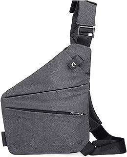 Loosnow Men's Messenger Bag Oxford Burglar Wearable Bag Multifunctional Solid Durable Outing