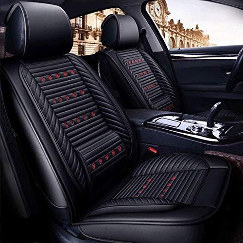 DTTN Fundas para Asiento de Coche Cuero Fundas de Asiento universales Auto Set Audi A3/A4/A5/A6/A8/Q3/Q5/RS4(M ercedes-Benz) Clase G GLC 180 2017 Fundas de Asiento Accesorios de Coche,Negro estándar