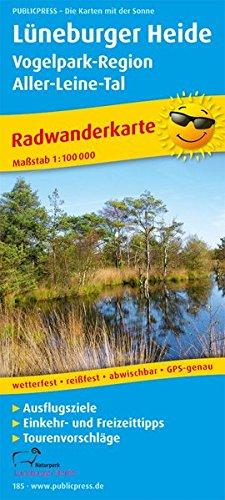 Lüneburger Heide - Vogelpark-Region, Aller-Leine-Tal: Radwanderkarte mit Ausflugszielen, Einkehr- & Freizeittipps, wetterfest, reissfest, abwischbar. 1:100000 (Radkarte / RK)