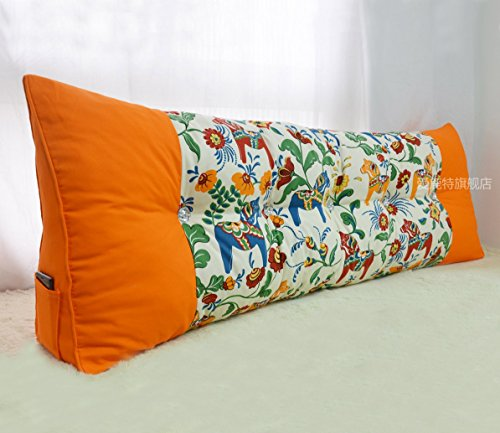Uus Triangle canapé Coussin tête de lit Ergonomique Design Dossier Doux et Confortable Moderne Couette Populaire Oreiller Taille 150 * 60 * 20cm (Couleur : O)
