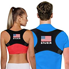 【WHY YOU NEED POSTURE CORRECTOR】--- Is your upper back giving you a hard time lately with that nasty pain? Has sedentary office sitting made your neck and shoulders slouchy? This posture corrector is the perfect solution!SNUSIM NEW Updated posture co...