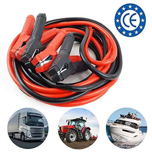 AMIO Cavi di avviamento per Batteria | Heavy Duty Professionale per 1000 A | Lunghezza 6m | per Benzina, Diesel, Camion, Barche, LKW, Macchine da Lavoro e furgoni