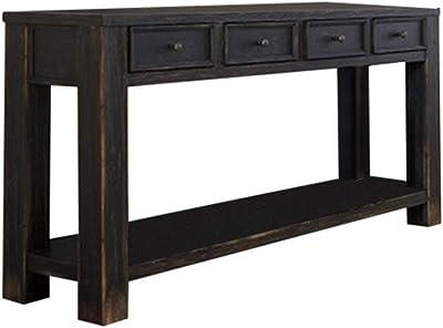 HomeRoots Benjara Benzara BM122834 Transitional Style Sofa Table, Black