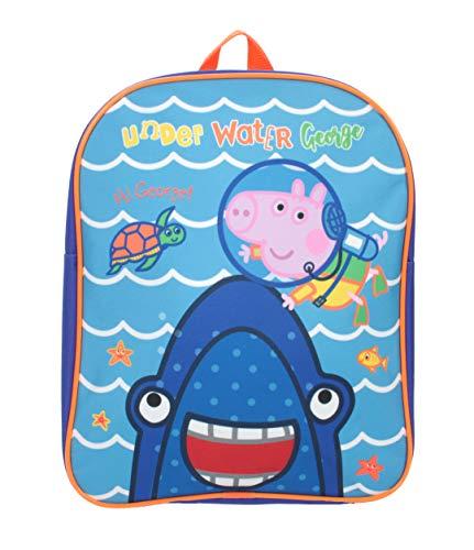 George Pig Underwater Shark Basic Backpack Blue