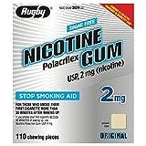 Rugby Sugar Free Nicotine Polacrilex Gum - 2 MG 110 Pieces - ORIGINAL Flavor - Stop Smoking Aid - Buy Packs and SAVE (Pack of 2)
