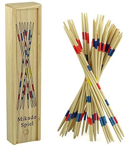Sellmando Domino Holzspielzeug mit 28 Dominosteinen (Mikado)