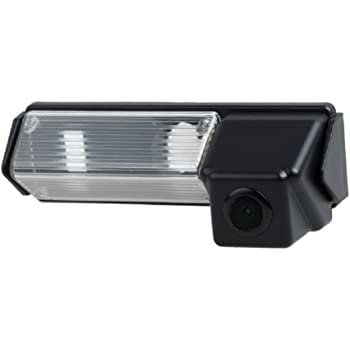 NTSC Misayaee Rear View Back Up Reverse Parking Camera in License Plate Lighting Night Version for Pajero Sport//Montero//Nativa//Dakar//Challenger//Grandis//Colt Plus//Space Wagon