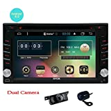EINCAR Frontkamera + Backup-Kamera + Upgrade-Android 6.0 Auto DVD-Player Doppel-DIN-Auto-Stereosystem 6.2 Zoll im