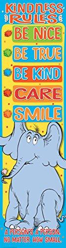Eureka Dr. Seuss Horton Hears a Who Kindness Classroom Rules Poster, 12'' x 45''