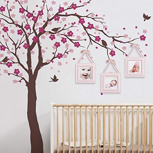 Kirschblütenbaum Wandtattoos Babyzimmer Kinderzimmer Großer Baum Mit Blumen Wandaufkleber, Für Kinderzimmer Vinyl Wandtattoo Wandtattoos Aufkleber