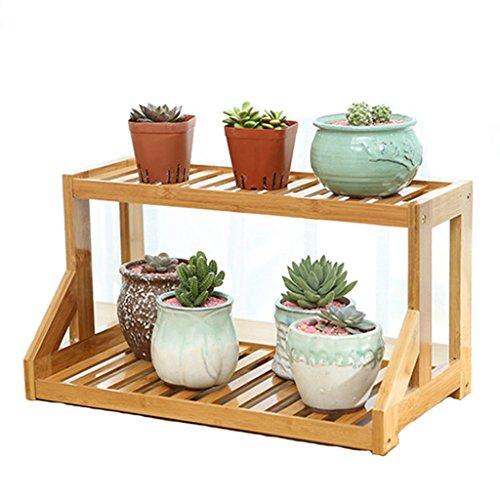 YUAN Les Supports de Fleur Multi-usages Mode Bambou Desktop Puzzle Vous étagères Simples de Stockage de Bureau étagères pour intérieur et extérieur