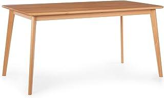 Besoa Svenson Table de Salle à Manger, hêtre, 150 x 75 x 80 cm, Assortie à la Paire de chaises de Salle à Manger Nyssa, Bois