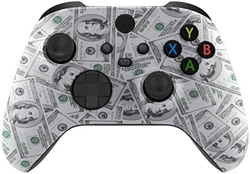 eXtremeRate 100 Cash Money Replacement Part Faceplate Soft Touch Grip Housing Shell Case for product image