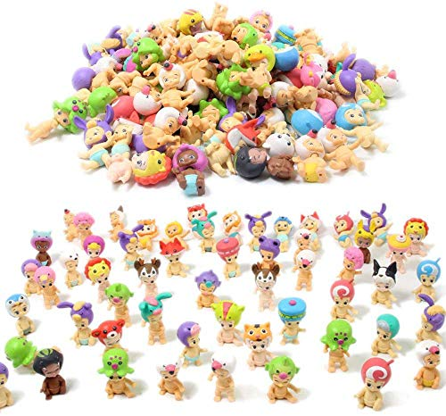 Random Cute Miniature Doll, Mini Cute Detachable Doll Toy Cake/ Plant/ Car Decoration (10 Pcs)