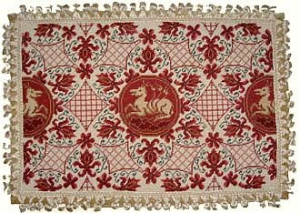 Deluxe Pillows High order Recommended Beast on Red - in. pillow x needlepoint 26 18