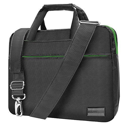 Metal Grey Green Briefcase Messenger Bag for DBPower 9.5 inch 10.5 inch Portable DVD Player