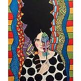 ZXDA Frameless Pintura por Kits de números Cool Girl Figura Pinturas al óleo acrílico Cnavas hogar D...