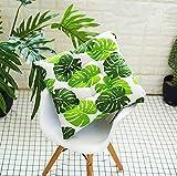 GLITZFAS Sitzkissen 2 Stück Stuhlkissen Sitzauflage Gartenstuhlkissen, Sitzkissen für Innen- und Außenbereich (45 x 45 cm,Bananenblatt)