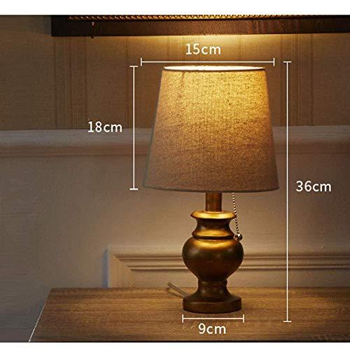 Deckenleuchte - Nordic Einfache Goldene Trompete Metall Schreibtischlampe Personality Nachtlampen-Licht-Schlafzimmer Des Wohnzimmer Villa Modell Raum Dekorative Lampenschirm Leinentuch 15 * 36cm Light