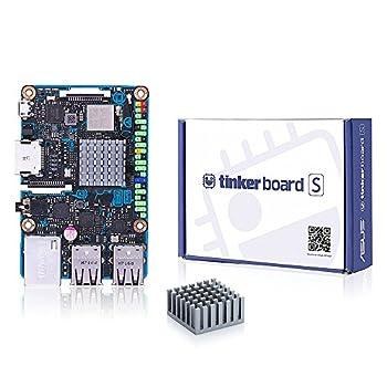 Tinker Board S RK3288 SoC Single Board Computer 1.8GHz Quad Core CPU 600MHz Mali-T764 GPU 2GB LPDDR3 & 16GB eMMC Motherboard with Accessories