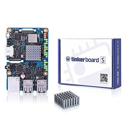 SmartFly info ASUS SBC Tinker-Platine S RK3288 SoC 1,8 GHz Quad-Core-CPU, 600 MHz Mali-T764 GPU, 2 GB LPDDR3 & 16 GB eMMC Entwicklung TinkerboardS
