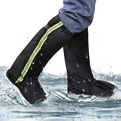 opamoo Regenüberschuhe, wasserdicht Überschuhe rutschfeste Unisex Schuhüberzieher Mehrweg Regenschuhe Regenschutz Galoschen mit Reflektoren für Outdoor Camping Radfahren Bergsteigen