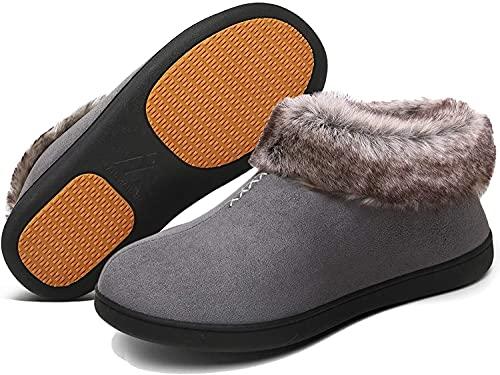 XYY del algodón de Las Mujeres Zapatillas Zapatillas, Invierno y Cubierta Exterior Antideslizante y cálido (Color : B, Size : 35)