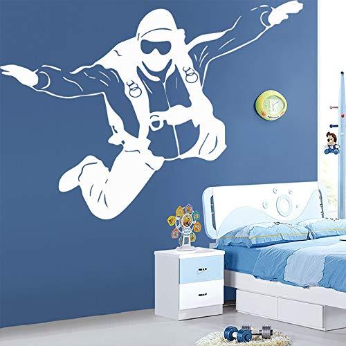 BJWQTY Der Astronaut Wandtattoo Baby Kinderzimmer Kinder Raum Rakete Mond Aufkleber Wandbild Kinder Kunstzimmer
