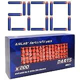 Airlab 200pcs Fléchettes pour Pistolets Nerf Fortnite, 7,2cm Balles pour Nerf N-Strike Elite, Flèches Munition Accessoires de Bullet Recharge en Jeux et Jouets de Plein Air, Bleu