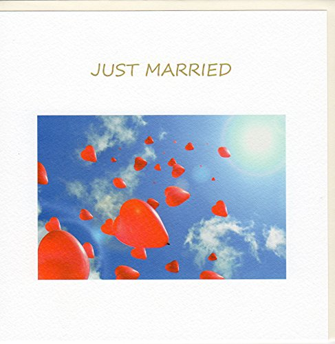 Fine Art Hochzeitskarte Ballon-Herzen