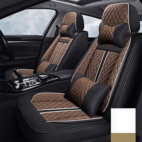 Luxe en comfortabel ademend Car Seat Cover, lavendel kussen, zuiveren de lucht, Ease Driving Vermoeidheid, geschikt voor alle seizoenen,Brown