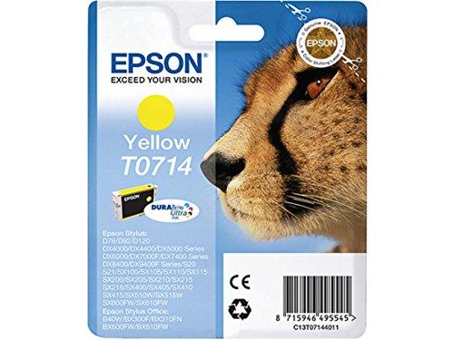 Epson Original–EPSON Stylus SX 215(T0714/C 13T 07144021)–Cartucho de tinta Amarillo–415páginas–5,5ml