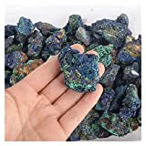 LAANYMEI Piedra Mineral cristalina Piedras ásperas Azules de 75 g- 100g de ejemplares minerales azuritas Naturales for la Venta 1pc (Size : 1PC 75g-100g)