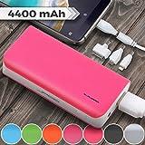 Jago Batterie Externe Chargeur | 4400mAh, 9,1x4,7x2,3 cm, Couleur au Choix | Power Bank, Banque de Puissance