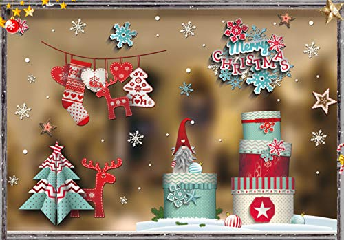 Pegatina de Ventana de Navidad, Pegatina de Copo de Nieve, Adhesivo de...
