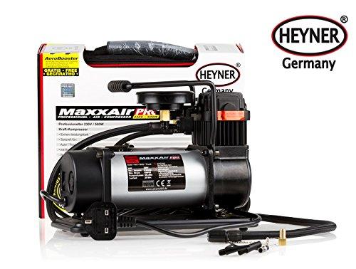 Alimentación PREMIUM MaxxAir HEYNER COMPRESOR DE AIRE DE 150 PSI 10 BAR 230V Alquiler de camioneta 4x4 incl. bolsa de almacenamiento