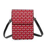Bolso cruzado pequeño para mujer, diseño de hueso de perro, color rojo fuego
