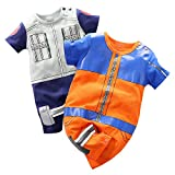 YFYBaby Baby Boys' 2 Pack Short Sleeve Romper Toddler Cartoon Onesie Outfits