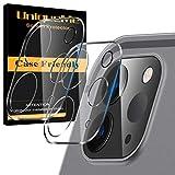 [2 Pack] UniqueMe Protector de Lente de cámara para iPad Pro 12.9 pulgadas (2020) cámara, Protector de Pantalla [9H Dureza ] [Sin Burbujas] Cristal HD Vidrio Templado