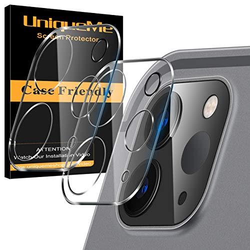 [2 Pack] UniqueMe Protector de Lente de cámara Compatible con iPad Pro 2021/2020 (11/12.9 pulgadas) Cristal Templado, Protector de Pantalla [9H Dureza ] [Sin Burbujas] Cristal HD Vidrio Templado