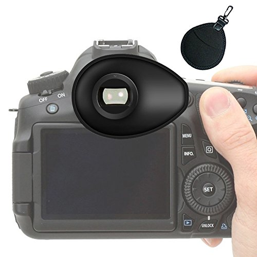 First2savvv DSLR SLR-Kamera Gummi Augenmuschel-Sucher für Nikon D750 D610 D600 D500 D300S D7200 D7100 D7000 D90 D5500 D5300 D5200 D5000 D3400 D3300 D3200 D3100 D700 D300 D200 D100 D80 D70 D60 D70 D60 DSLR Camera + UV-Objektiv-Beutel -QJQ-TX-P
