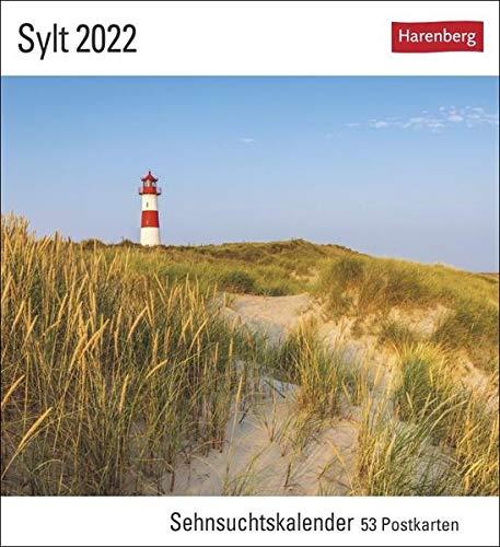 Sylt Kalender 2022: Sehnsuchtskalender, 53 Postkarten