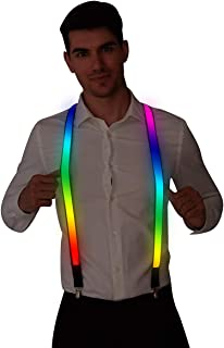 Burning Man LED Light up Rave Suspender for Men&Women,USB Rechargeable