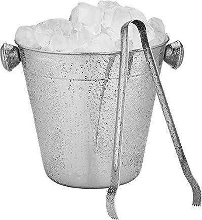 Balde Para Gelo Inox 12 Cm Com Pegador