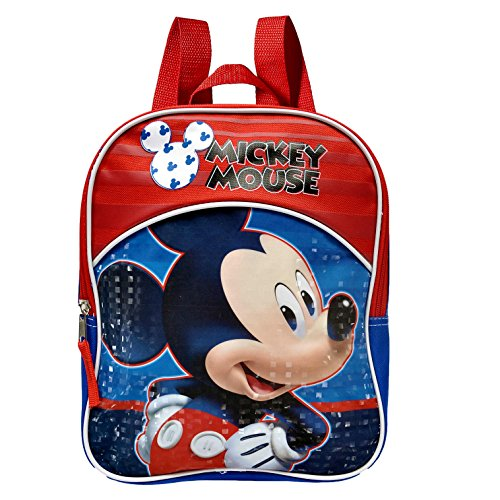 Disney Mickey Mouse Toddler Preschool Mini Backpack (Mickey Mouse School Supplies)