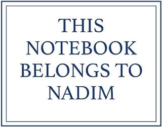 This Notebook Belongs to Nadim