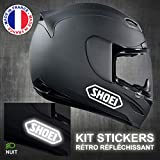 [Kit de 4] Hirondelle Bleue® Autocollant Sticker réfléchissant de sécurité compatible Moto scooter casque Motard SHOEI,Produit expédié depuis la France