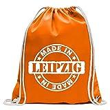Kiwistar - Divertida mochila deportiva con diseño de Lipsia Gimnasio de compras de algodón con cordón, Unisex adulto, mandarino, 37 x 46cm